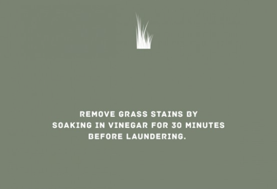 STAIN -GRASS REMOVAL TIP