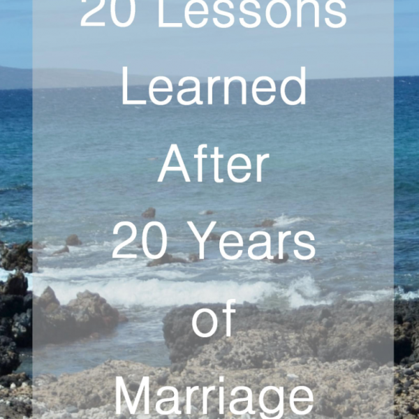 20 Lessons from 20 Years of Marriage